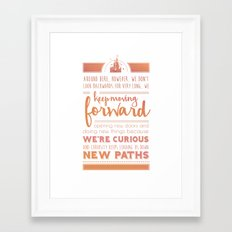 Keep Moving Forward Framed Art Print