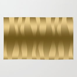 Modern Gold Abstract Zebra Stripes. Rug