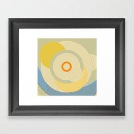 Simple circle pattern Framed Art Print