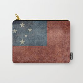 Samoan national flag - Vintage retro version to scale Carry-All Pouch