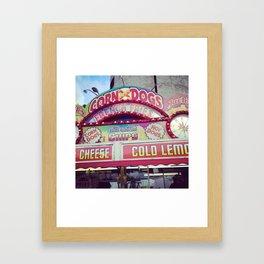 Rodeo Eating Framed Art Print