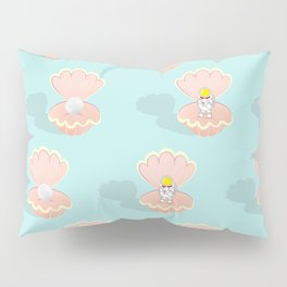 Space Birth of Venus | Astronaut Seashell | Pearl in Seashell | Under the Sea | pulps of wood Pillow Sham