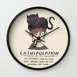 catnipulation Wall Clock