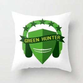 GREEN HUNTER Throw Pillow