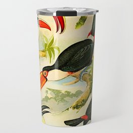 Album de aves amazonicas - Emil August Göldi - 1900 Tropical Colorful Amazon Birds Travel Mug