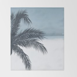 Palm and Ocean Throw Blanket