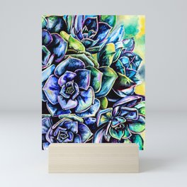 Watercolor Succulents art painting Mini Art Print