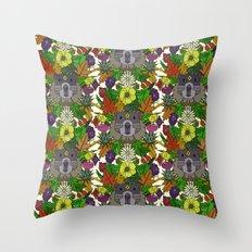 groundhog garden Throw Pillow