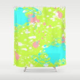 Tropical Ink Splatter Shower Curtain