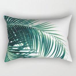 Palm Leaves Green Vibes #6 #tropical #decor #art #society6 Rectangular Pillow