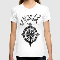 wanderlust T-shirts featuring Wanderlust  by DannyAlaska