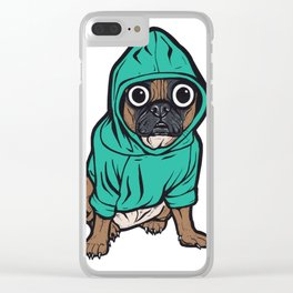 French Bulldog Hoodie Clear iPhone Case