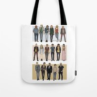 cargline Tote Bags featuring Character Line Up by cargline