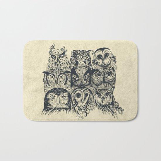 Nine Owls Bath Mat