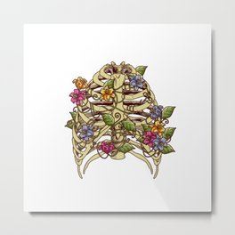 Rib Bloom Metal Print
