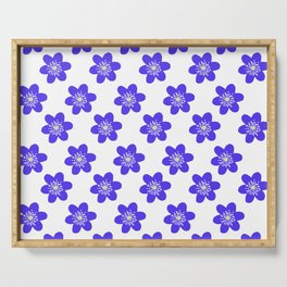 Flower Anemone Hepatica, small Serving Tray