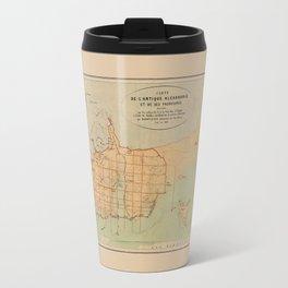 Map Of Alexandria 1866 Travel Mug
