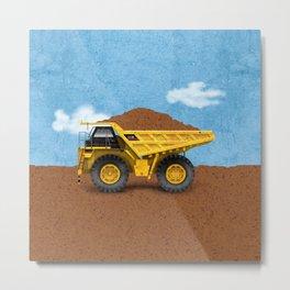Construction Dump Truck Metal Print