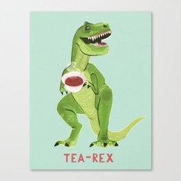 Tea-Rex Canvas Print