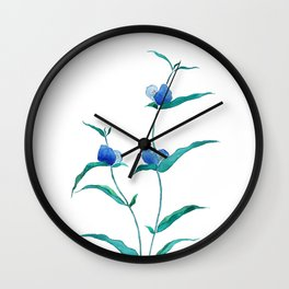 spreading dayflower Wall Clock