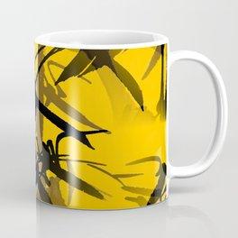 Bamboo Branches On A Yellow Background #decor #society6 #buyart #pivivikstrm Coffee Mug