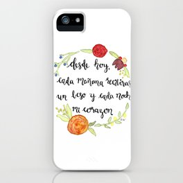 Un Beso y Mi Corazon iPhone Case