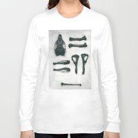 bones Long Sleeve T-shirts featuring Bones by Carrianne Bullard