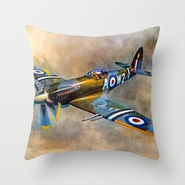 Spitfire Dawn Flight Throw Pillow