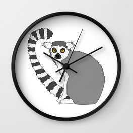 Ring-tailed cute lemur design Wall Clock