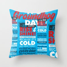 It's Groundhog Day Throw Pillow