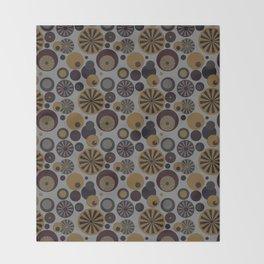 Circle Frenzy - Grey Throw Blanket