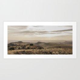 Scenic Landscape Panoramic in Davis Mountains Art Print