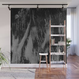Gray black watercolor brushstrokes abstract pattern Wall Mural