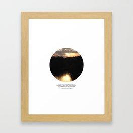 Columbiaville Sunset Framed Art Print