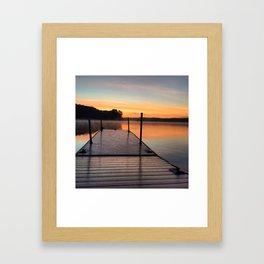 Off the Dock Framed Art Print
