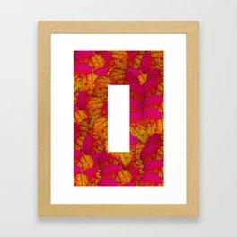 Leafs Motif Framed Art Print
