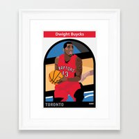 dwight Framed Art Prints featuring Dwight Buycks by Everyplayerintheleague