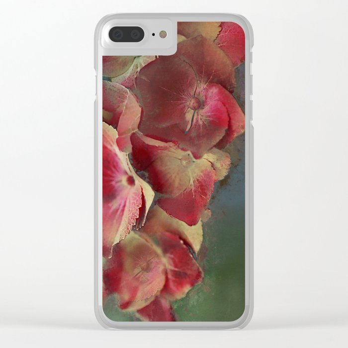 Vintage hydrangea Clear iPhone Case