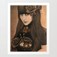 chocolate Art Prints featuring Chocolate by Sheena Pike ART