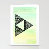 triforce Stationery Cards featuring Triforce by Leonnie's Art
