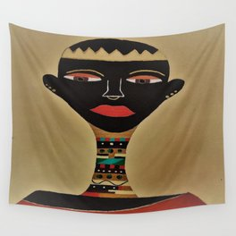Ebony and Ivory Crown Wall Tapestry
