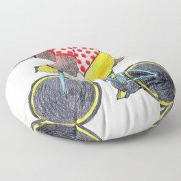 Cyclist of bear Floor Pillow