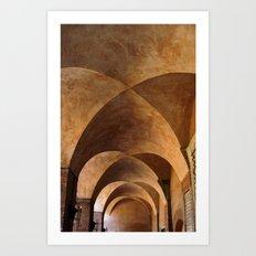 Symmetrical ceiling in Rome. Art Print