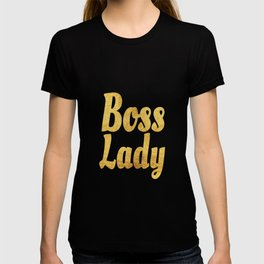 Boss Lady in Cursive Gold T-shirt