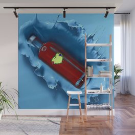 A jug of wine with family and friends Wall Mural
