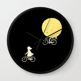 The moon and me Wall Clock