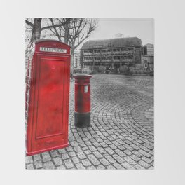 Post Box Phone Box London Throw Blanket