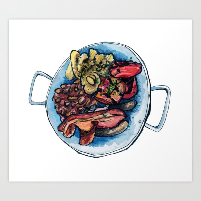 Farmer Breaky Art Print