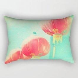 Red Paper Lanterns. Chinatown Los Angeles photograph Rectangular Pillow