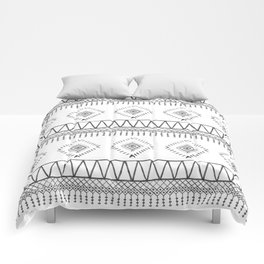 Gray Boho Aztec Comforters